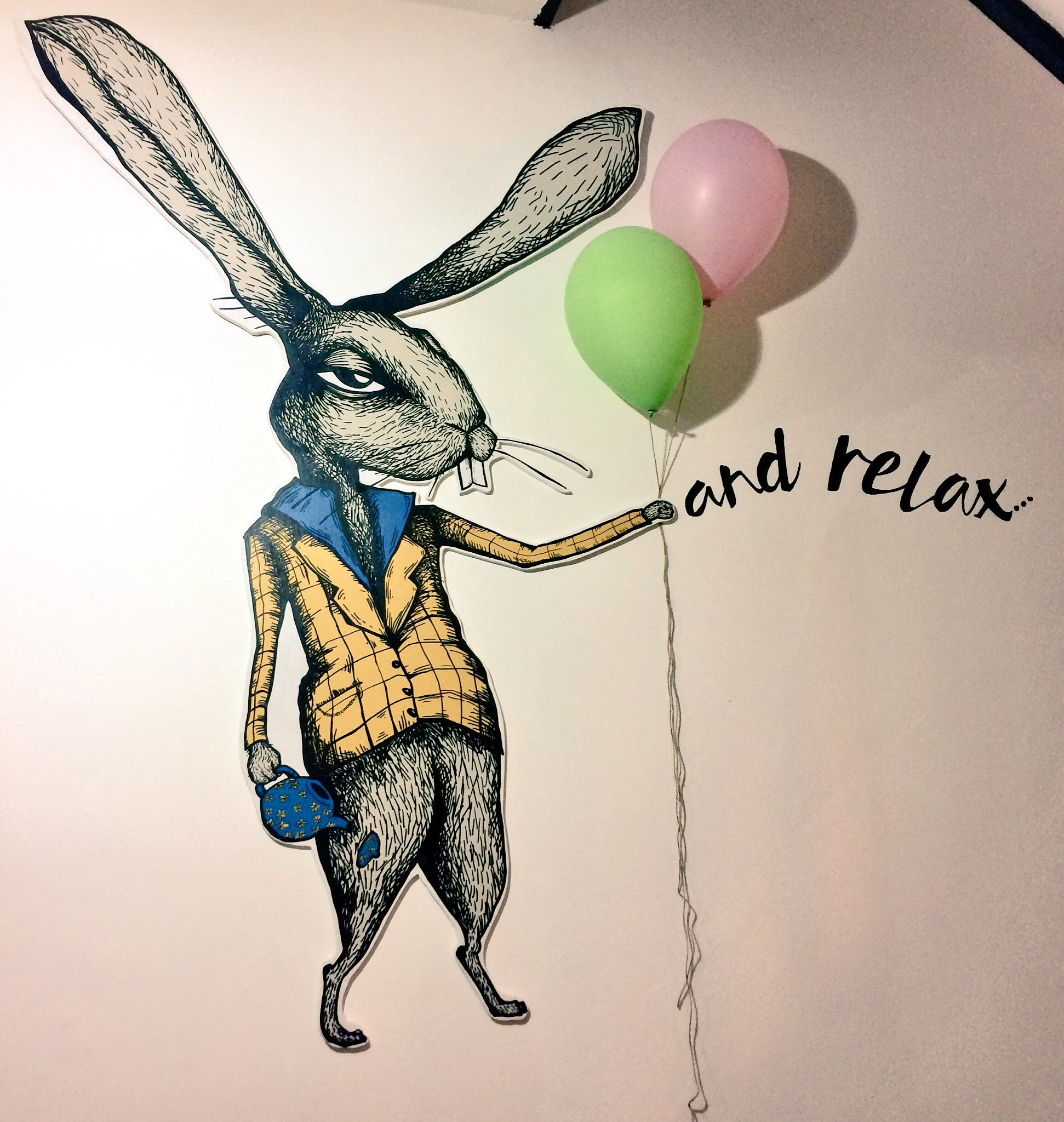 Hare with Baloons